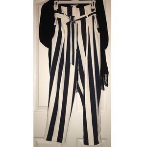 Striped trousers pants